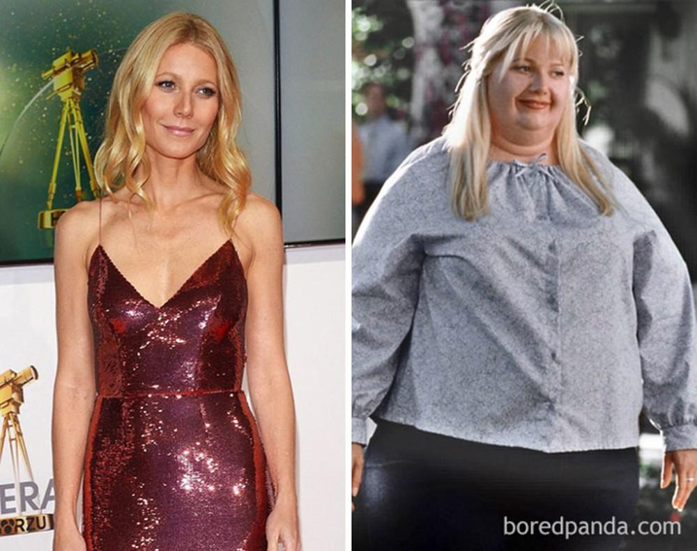 Gwyneth Paltrow phải mặc bộ đồ nặng hơn 10kg khi đóng Shallow Hal.
