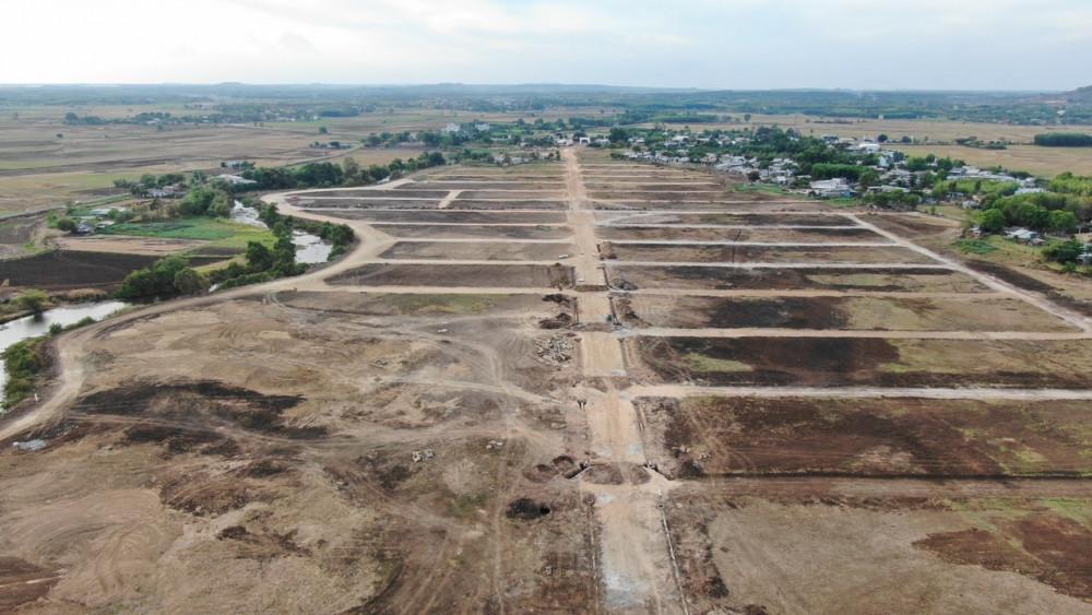 Khu đất có tên Hồ Tràm Riverside đang làm đường và rao bán ẩn chứa nhiều nguy cơ lừa đảo