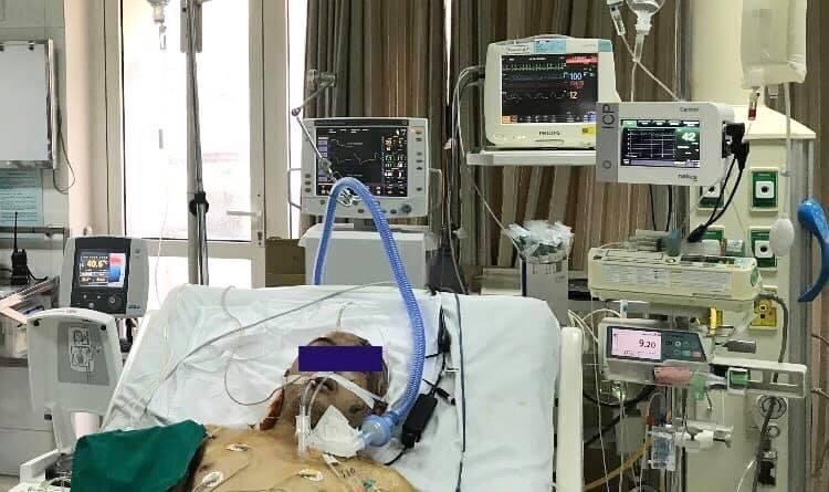 Bệnh nhân nam 27 tuổi nguy kịch, đa chấn thương do ngã từ độ cao 7m