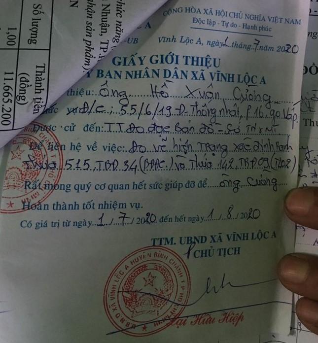 Người dân cho rằng đã phản ánh đến chính quyền địa phương nhưng UBND xã Vĩnh Lộc A vẫn xác nhận đất không tranh chấp