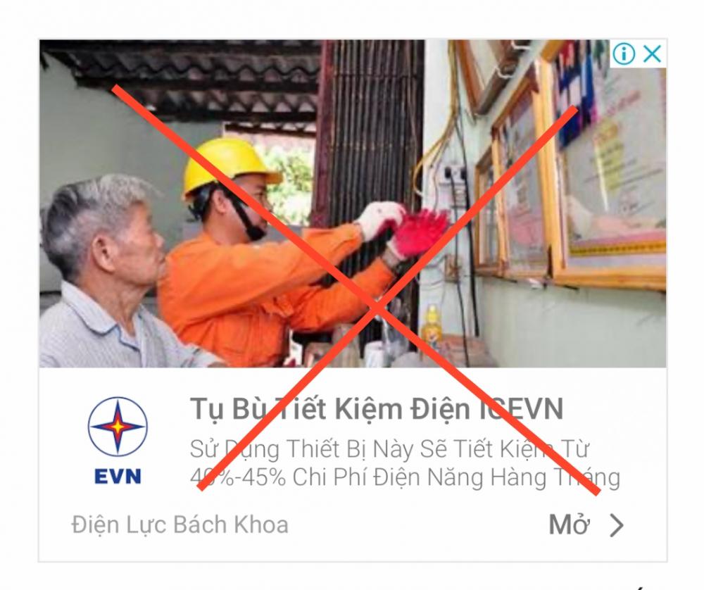 Đại diện EVN cho biết, việc vi phạm sử dụng nhãn hiệu EVN và sử dụng các thông tin không rõ ràng gây hiểu nhầm, ảnh hưởng đến uy tín và hình ảnh của Tập đoàn Điện lực Việt Nam.