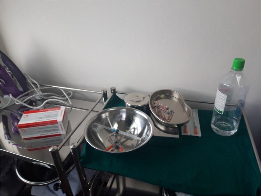 Những dụng cụ sử dụng được phát hiện, ảnh Sở Y tế TPHCM
