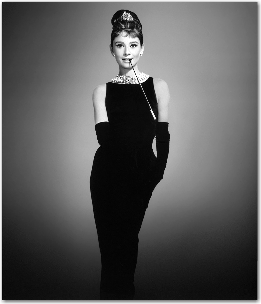 Thập niên 60, thân hình mảnh khảnh cùng vòng ba gọn gàng giống Audrey Hepburn trở thành mốt