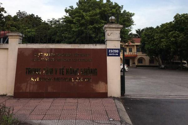 Trung tâm y tế Hàng không, nơi phát sinh nghi vấn nhân bản giấy xét nghiệm.