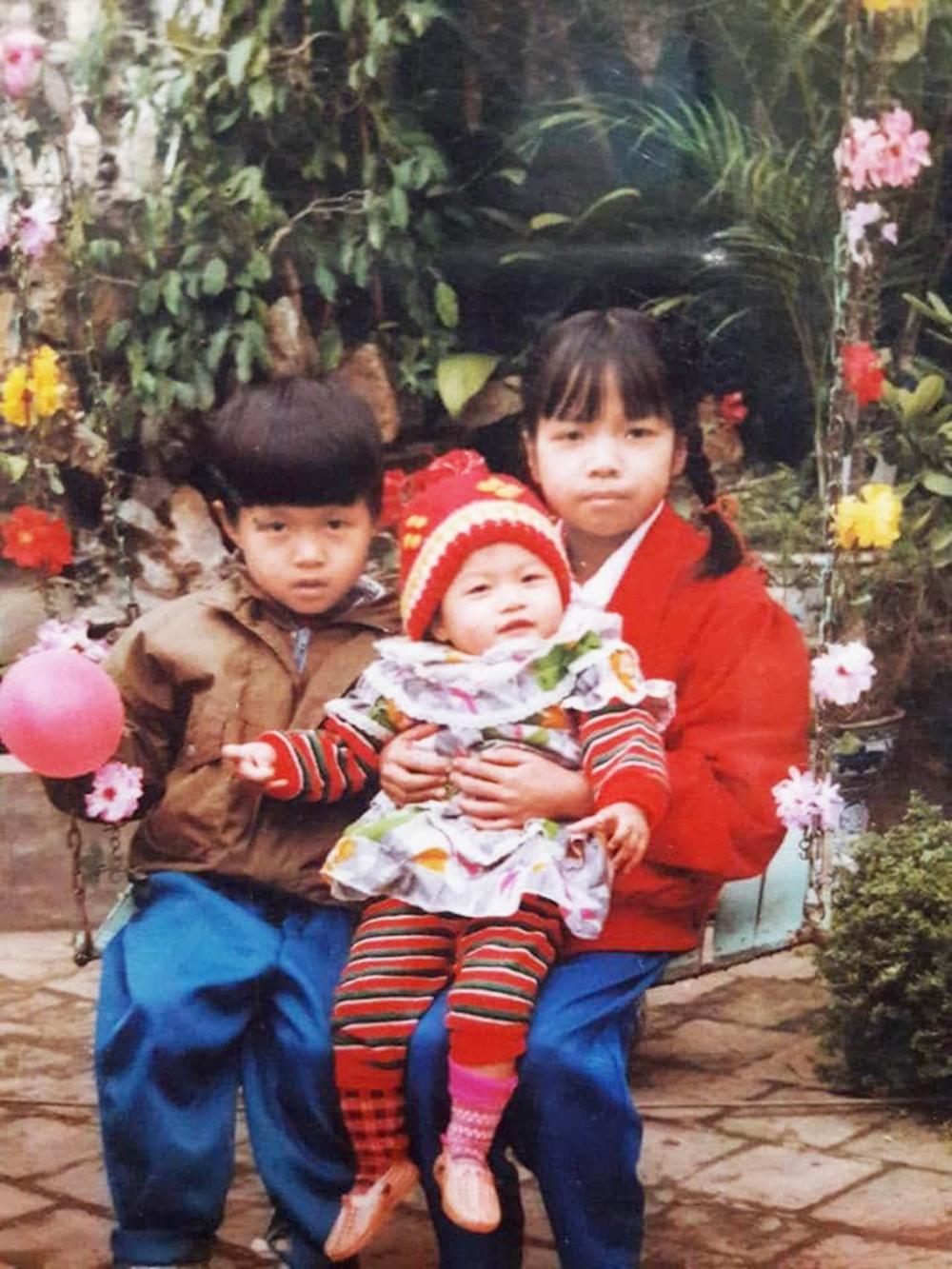 Hai con của anh Ngự chị Lâm lúc nhỏ cùng cháu ruột chị Lâm - Ảnh: nhân vật cung cấp