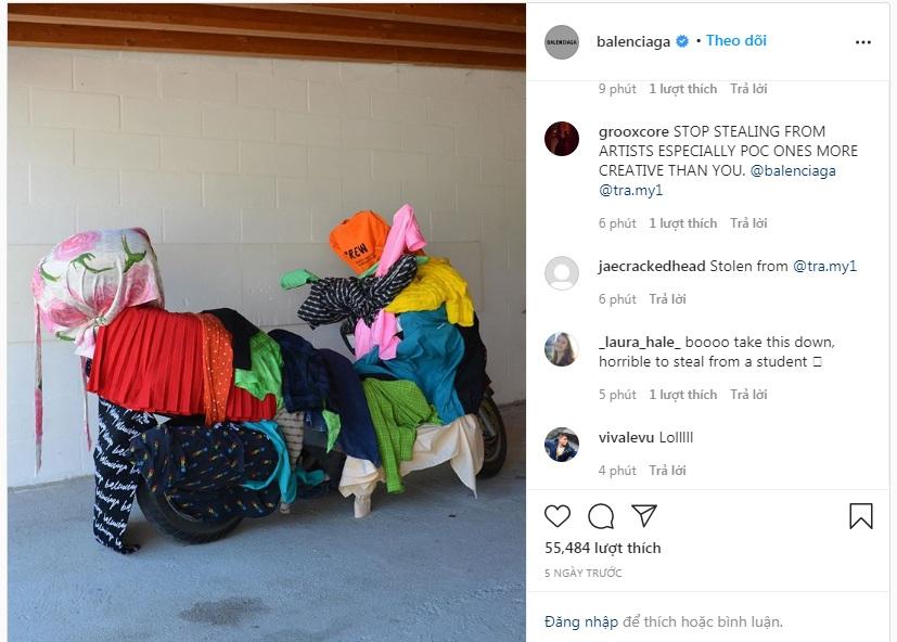 Sản phẩm đạo nhái được Balenciaga đăng tải lên Instagram và đang hứng chịu sự chỉ trích từ cộng đồng mạng.