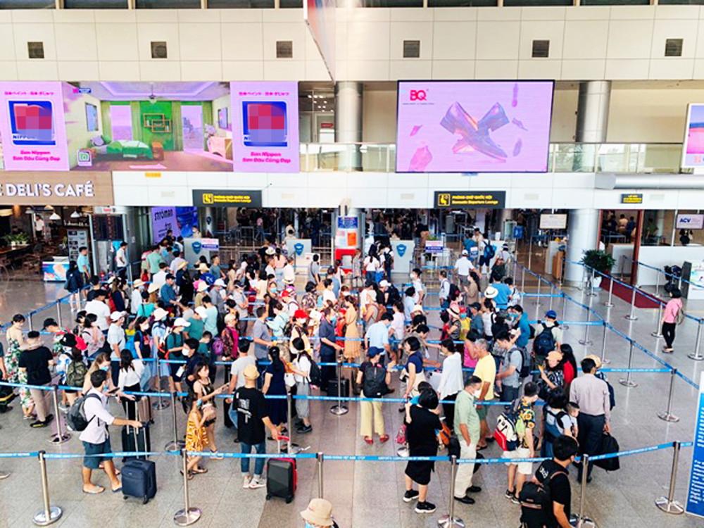 Hiện các hãng hàng không được cấp phép tăng số chuyến vận chuyển hành khách rời Đà Nẵng - Ảnh: ACV