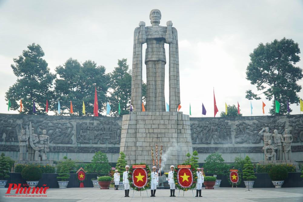 Toàn cảnh khuôn viên Lễ viêng Nghĩa trang liệt sĩ thành phố (Đồi Không Tên)