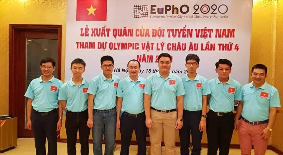 Thí sinh Việt Nam tham dự Olympic Vật lý châu Âu (ảnh: Thầy Nguyễn Thành Lập)