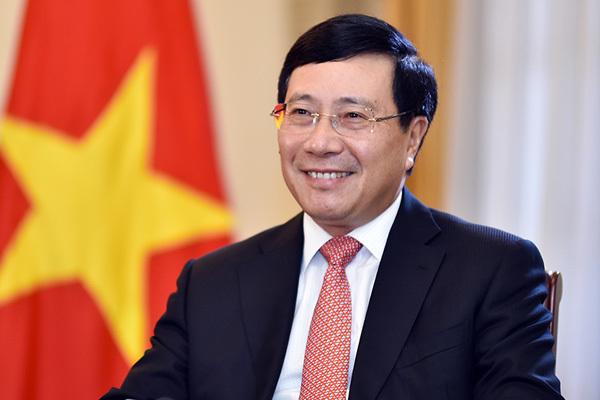 Ủy viên Bộ Chính trị, Phó Thủ tướng, Bộ trưởng Bộ Ngoại giao Phạm Bình Minh. Ảnh: VGP