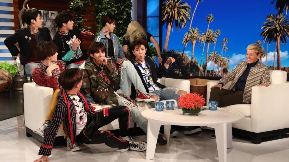 Nhóm nhạc BTS của Hàn Quốc từng xuất hiện trên Ellen show và được yêu thích.
