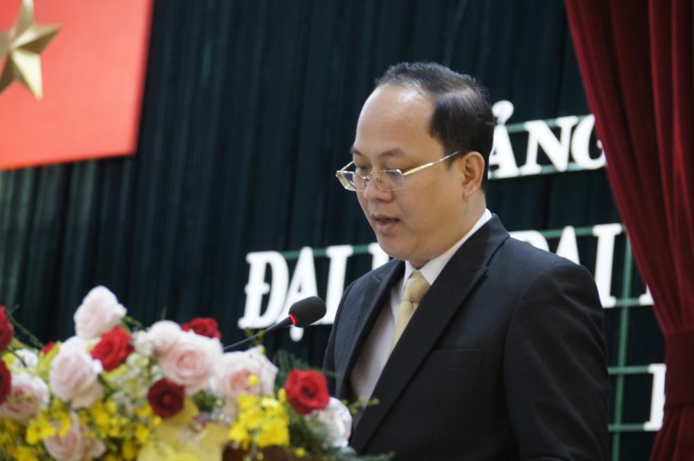 Ông Nguyễn Hồ Hải , UỦy viên Ban Thường vụTrưởng Ban Tổ chức Thành ủy phát biểu chỉ đạo đại hội