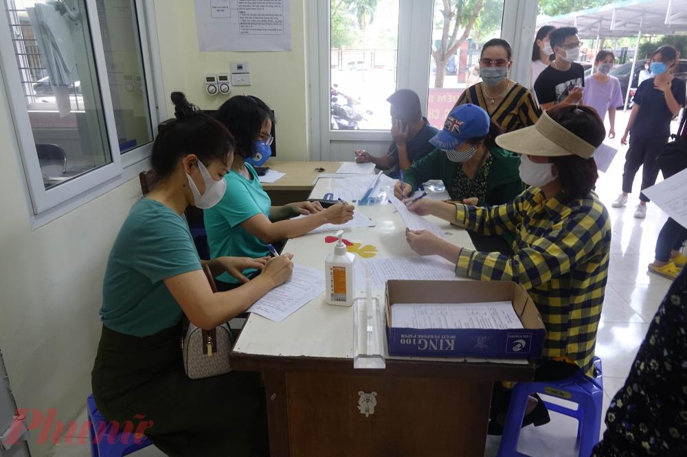 Việc khai báo tại trạm y tế Mễ Trì diễn ra từ ngày 29/7 cho đến hôm nay.