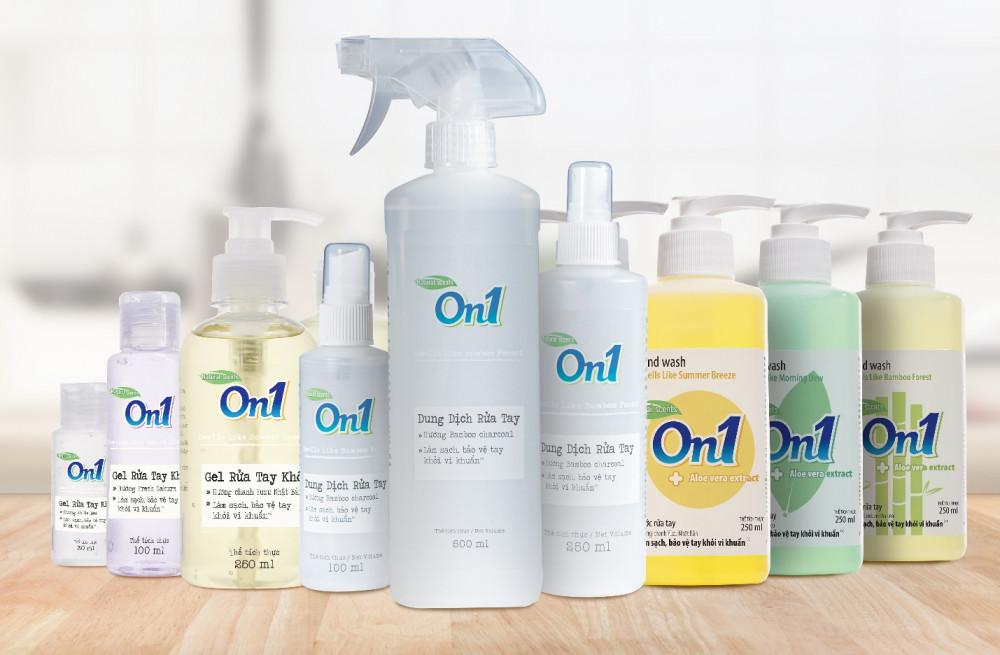 Các sản phẩm của Lix: gel rửa tay khô, dung dịch rửa tay khô, nước rửa tay