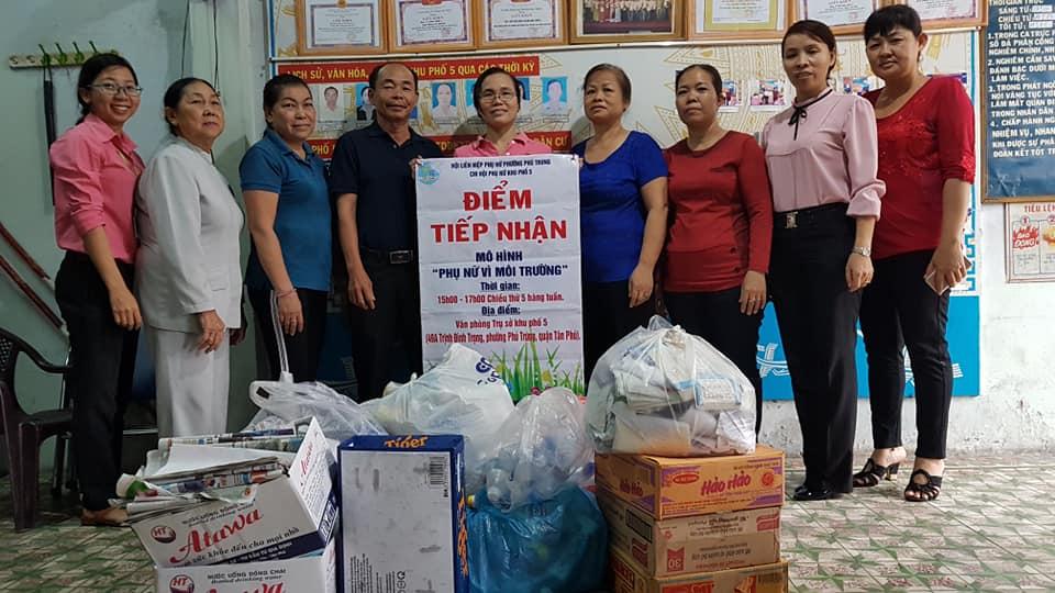 Điểm tiếp nhận rác thải có thể tái chế tại Q.Tân Phú, TP.HCM