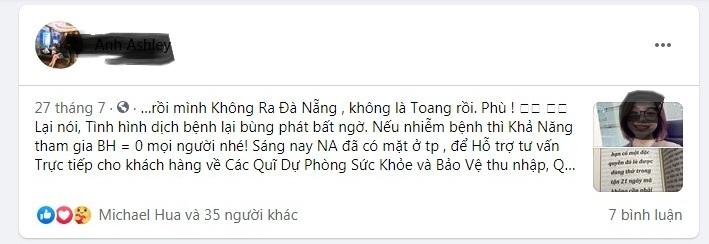 Ảnh chụp màn hình Facebook.