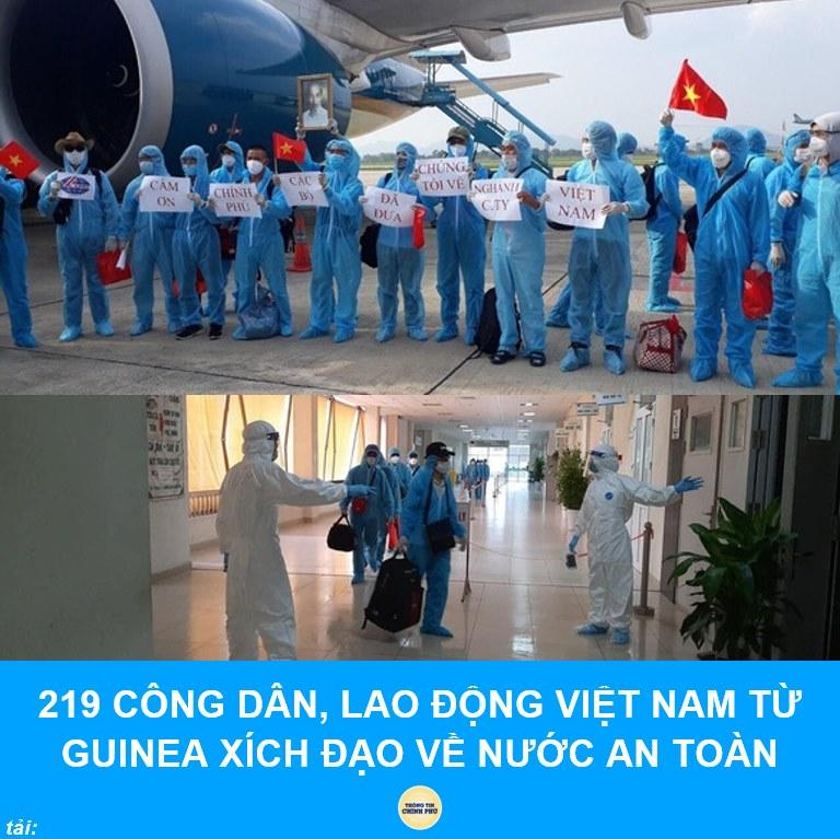 Đoàn công nhân từ Guinea Xích đạo đã về Bệnh viện Nhiệt đới Trung ương an toàn.