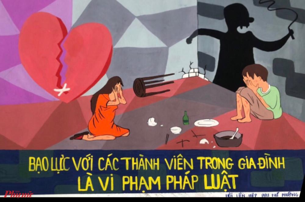 Một số tác phảm tham gia hội thi vẽ tranh Phòng, chống bạo lực gia đình