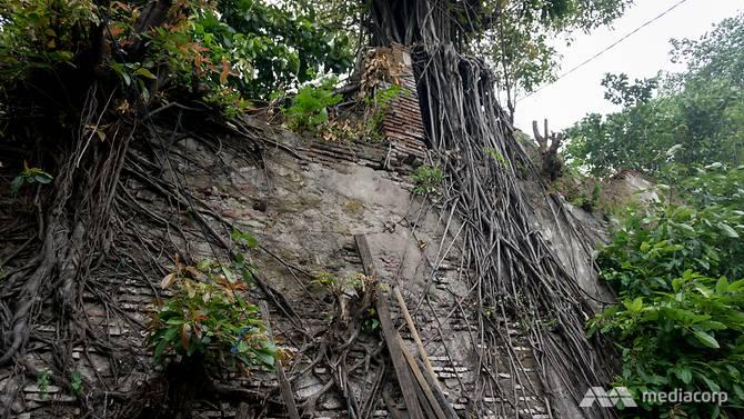 Nhiều phần của bức tường đã bị ảnh hưởng nghiêm trọng bởi tác động của thiên nhiên và tác động của con người
