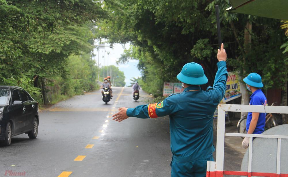 Một chốt kiểm dịch ở huyện Hòa Vang
