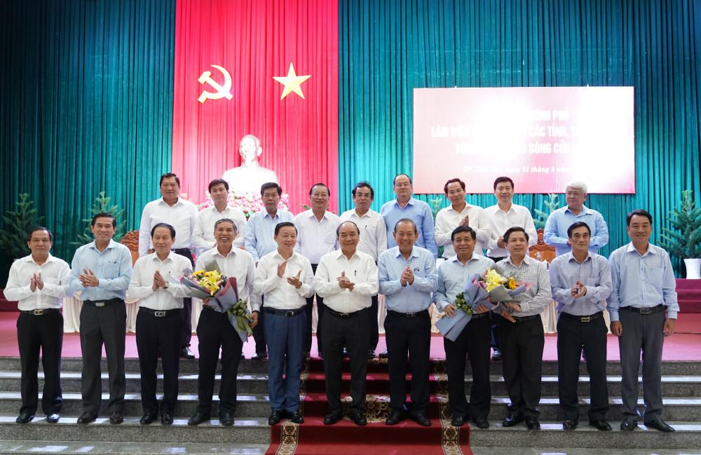 Thủ tướng chứng kiến công bố quyết định và ra mắt Hội đồng điều phối vùng ĐBSCL - Ảnh: VGP/Quang Hiếu