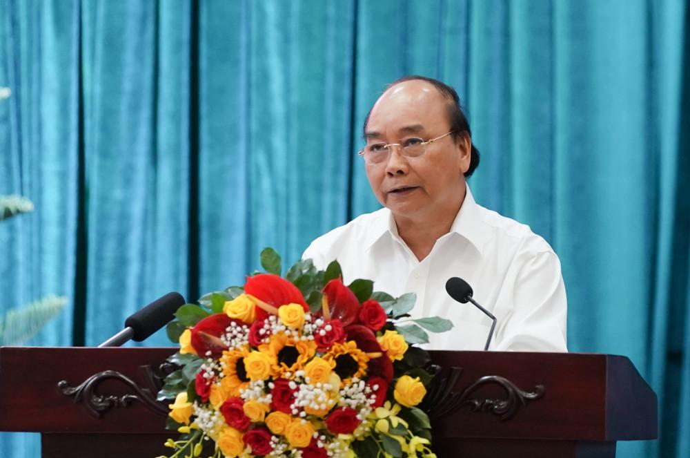 Thủ tướng kết luận cuộc làm việc với 13 tỉnh, thành phố ĐBSCL - Ảnh: VGP/Quang Hiếu