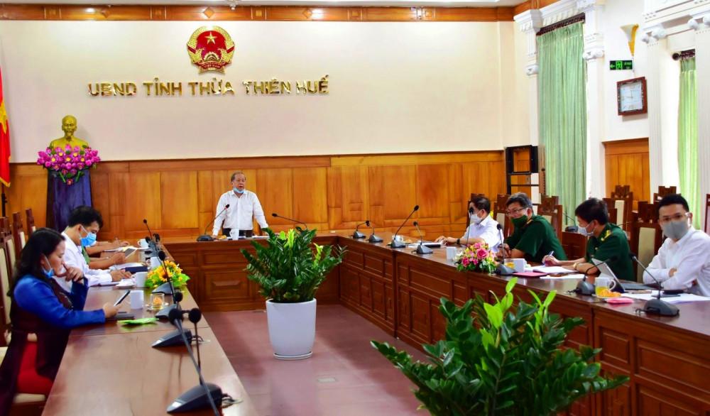Ông Phan Ngọc Chủ tịch UBND tỉnh Thừa Thiên - Huế chỉ đạo khẩn trương, thần tốc truy vết  những người liên quan đến các bệnh nhân 589, 601, 602.