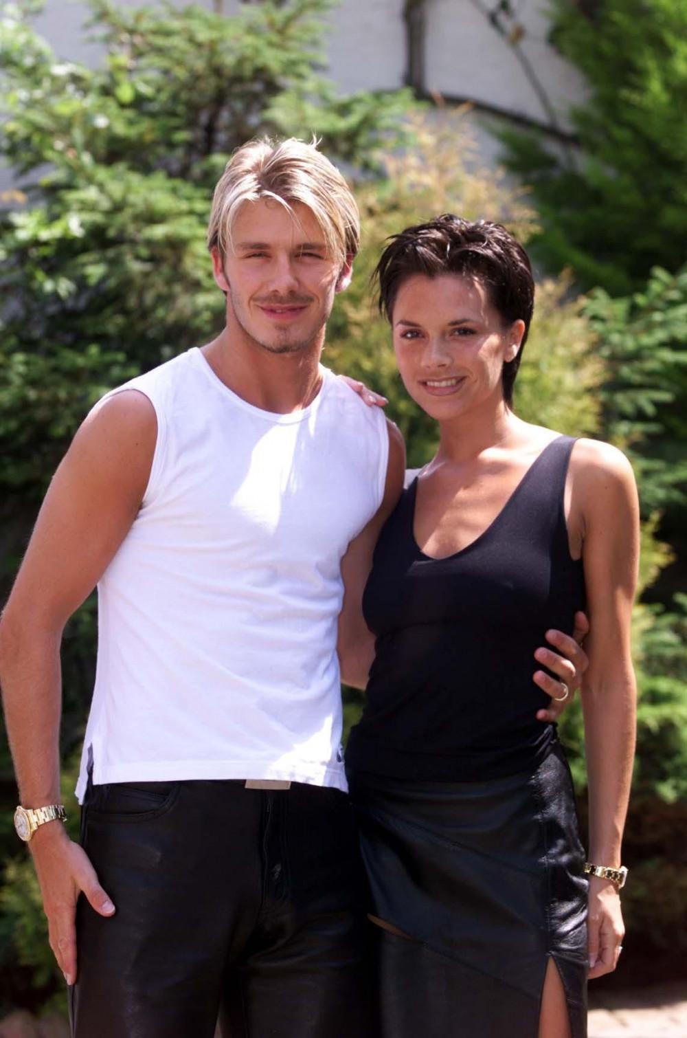 David Beckham và Victoria Beckham thời còn trẻ.