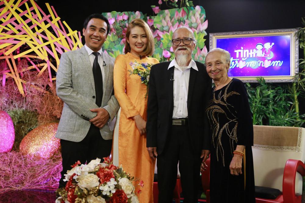 MC Quyền Linh, diễn viên Ngọc Lan cùng dẫn dắt, chia sẻ hạnh phúc của những căp vợ chồng lớn tuổi