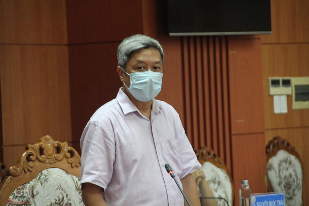 Thứ trưởng Nguyễn Trường Sơn tại buổi làm việc với UBND tỉnh Quảng Nam