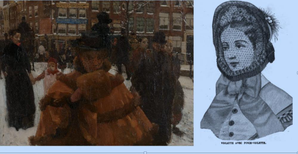 Mạng che mặt được giới phụ nữ quý tộc phương Tây ở thế kỷ 19 ưa chuộng - Ảnh: Internet