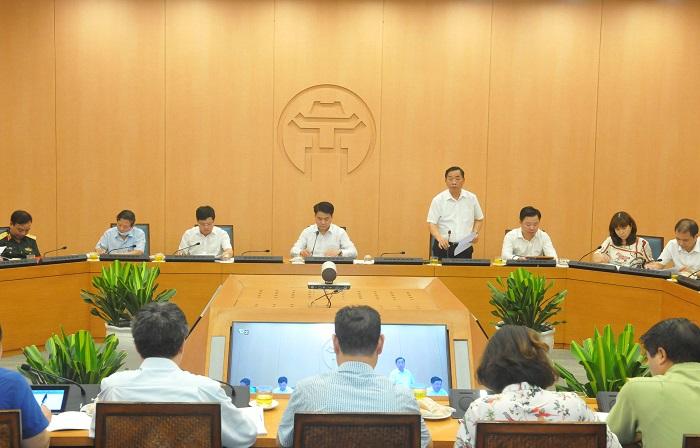 Thông tin được công bố tại cuộc họp Ban chỉ đạo phòng, chống dịch COVID-19 của TP Hà Nội, chiều 5/8