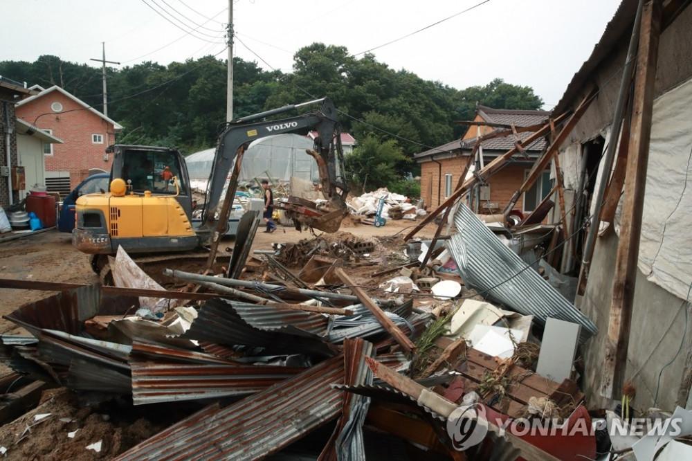 Đợt mưa lũ kéo dài gây thiệt hại trầm trọng tại Hàn Quốc.