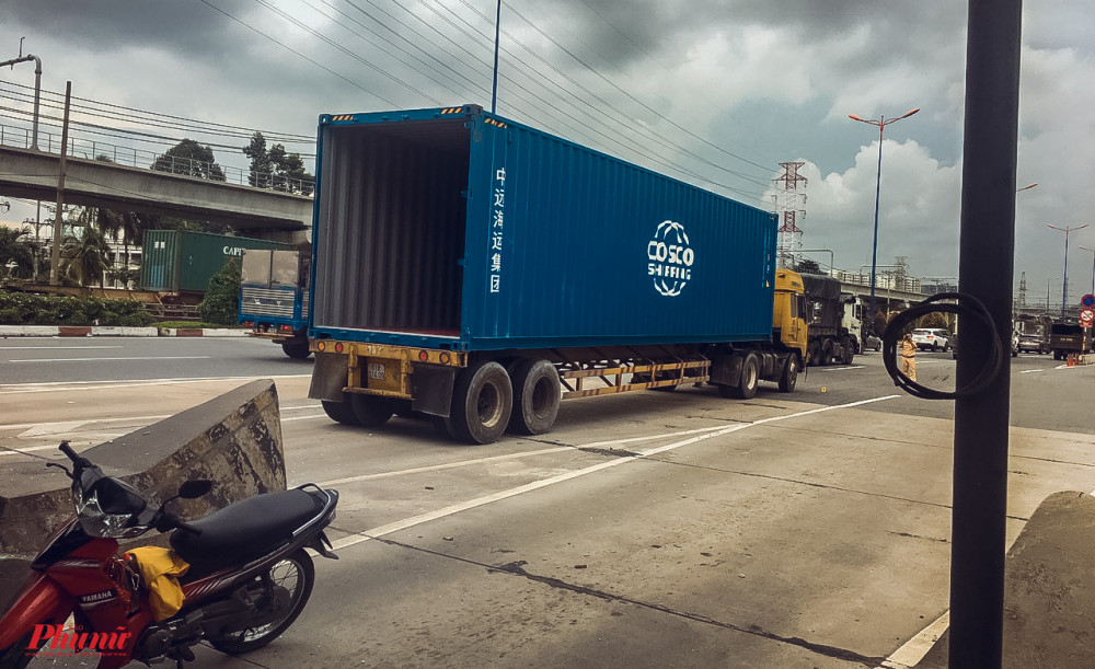 Tại thời điểm xảy ra va chạm, thùng xe container không chở hàng hóa
