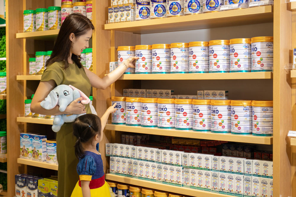 Vinamilk hiện đang dẫn đầu thị trường trong nước về cả sữa nước và sữa bột trẻ em