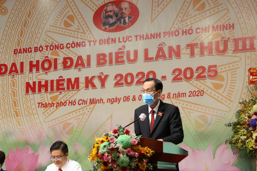 Ông Lê Thanh Liêm- Phó Chủ tịch Thường trực UBND TPHCM phát biểu tại đại hội