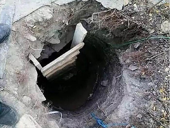Cận cảnh đường hầm người mẹ 51 tuổi hì hục đào 1 mình suốt 3 tuần trước khi bị bắt