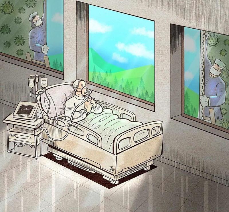 Thăm ngườ ốm trong mùa dịch  tiềm ẩn nhiều nguy cơ lây nhiễm rất cao (ảnh minh họa)