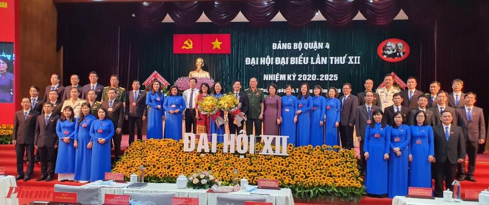 Ban chấp hành Đảng bộ quận 4 và Đoàn đại biểu dự Đại hội cấp trên ra mắt trước Đại hội