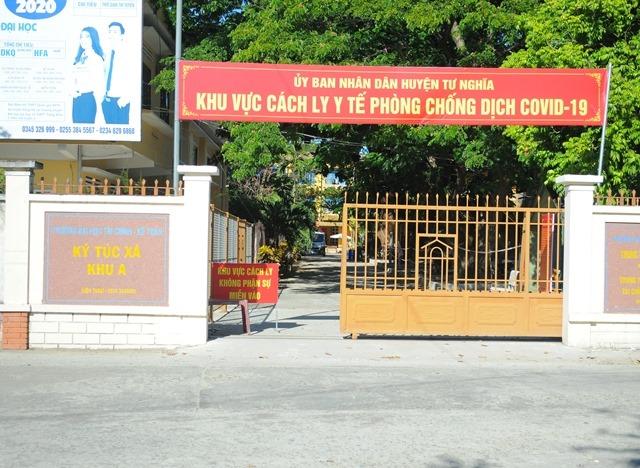BN 787 cách ly tập trung tại Kí túc xá trường Đại học Tài chính Kế toán Quảng Ngãi trước khi có kết quả dương tính.