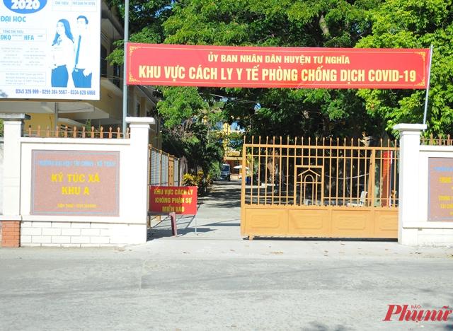 BN 787 được cách ly tập trung tại KTX Trường Đại học Tài chính Kế toán Quảng Ngãi trước khi có kết quả dương tính với SARS-CoV-2