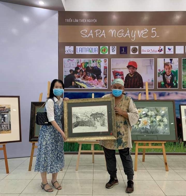 Tại triển lãm đã có một số tác phẩm được bán thành công