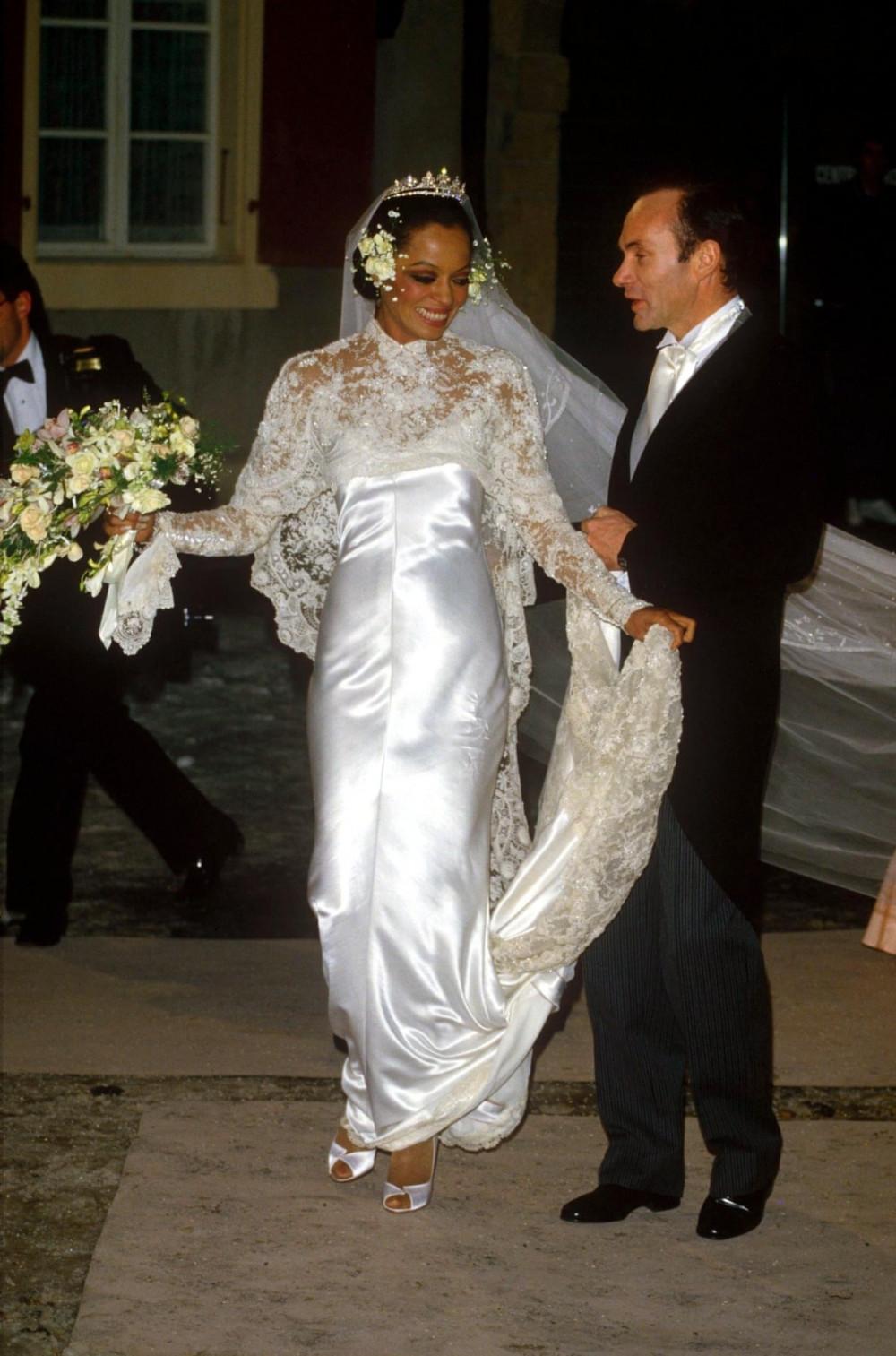 ca sĩ Diana Ross và chồng, Arne Naess ở Thụy Sĩ năm1986.