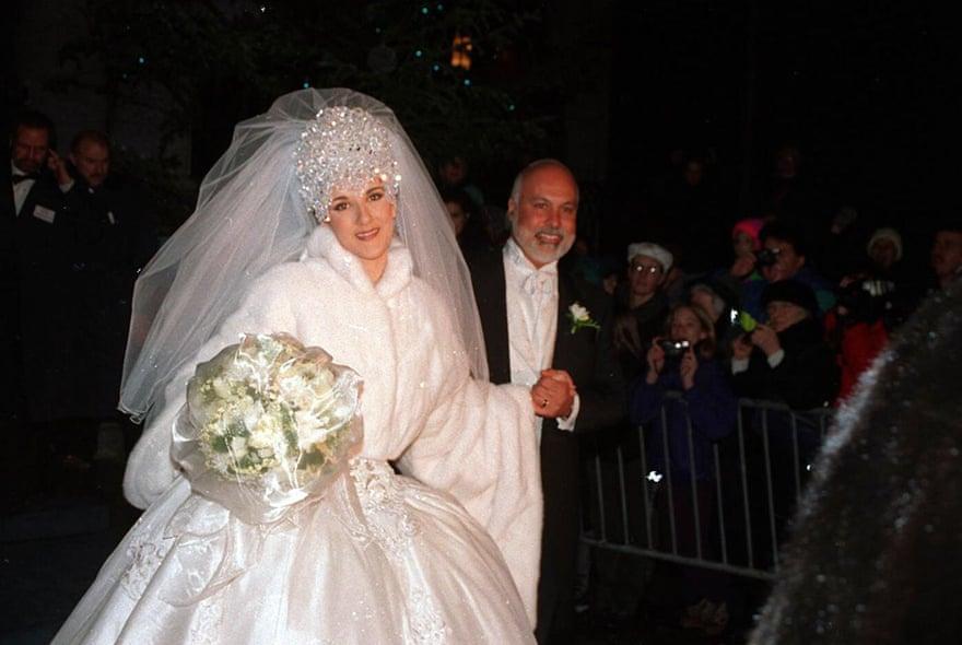 Lễ cưới của Celine Dion và René Angélil tại  Montreal, Canada năm 1994.