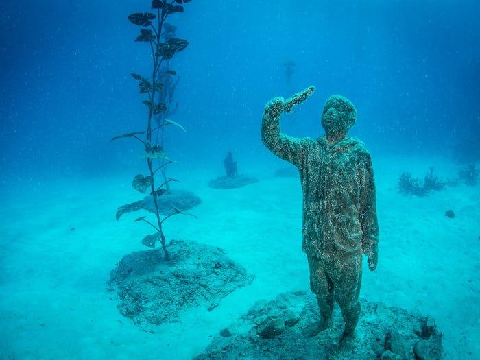 Một trong những tác phẩm độc đáo của bảo tàng dưới nước