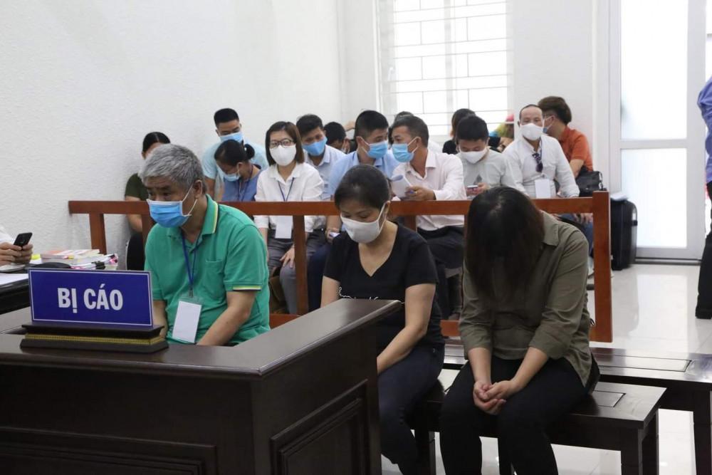 3 bị cáo tại phiên tòa xét xử phúc thẩm.