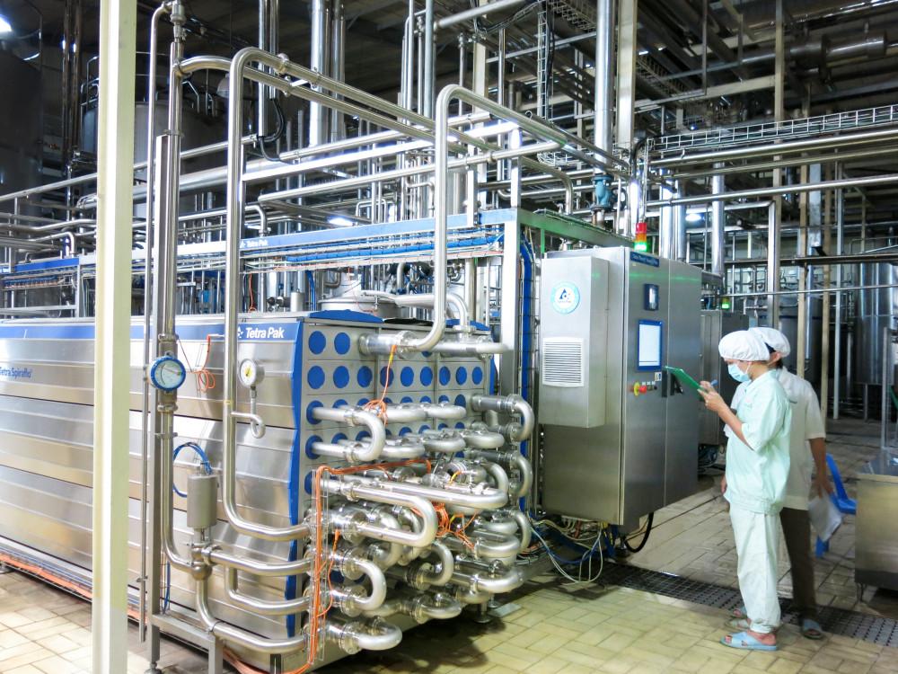 Một góc nhà máy NutiFood Bình Dương với dây chuyền công nghệ hiện đại