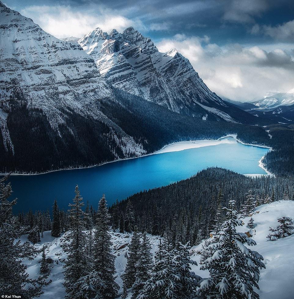 Kai Yhun cho biết anh rất yêu thích cảnh vật tại đây nên mỗi năm đến thăm công viên Banff vài lần và ghi lại hình ành. Khoảng thời gian đẹp nhất để tham quan nơi này theo anh là vào mùa thu
