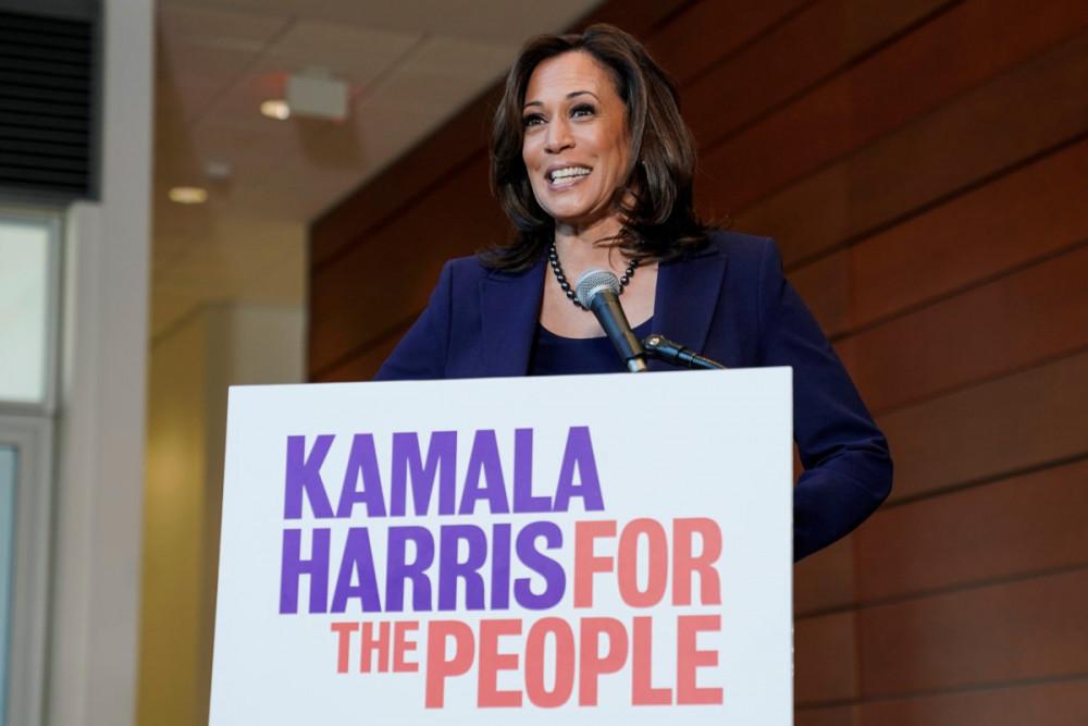 Kamala Harris trong chiến dịch tranh cử Tổng thống vào năm 2019