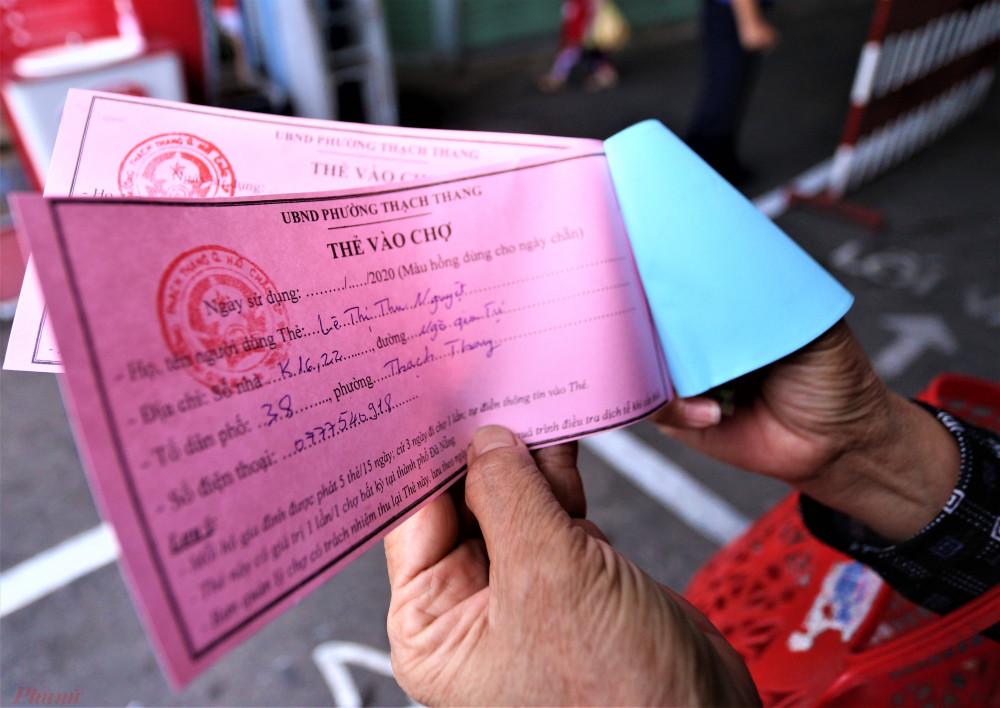 Thẻ vào chợ chỉ có giá trị sử dụng một lần/một chợ bất kỳ trên địa bàn TP. Đà Nẵng.